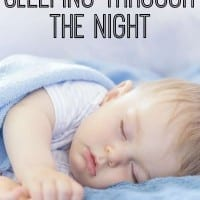 Great tips on getting babies to sleep through the night from a mom of three.