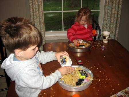 Perfect for rainy days, these sensory trays will keep your kids busy!