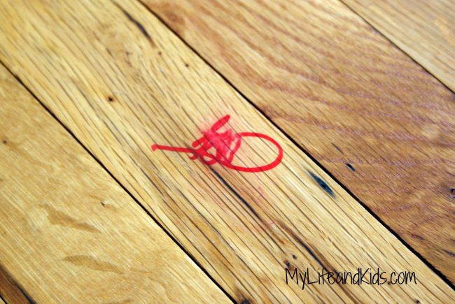 Looking for tips on permanent marker removal? Removing permanent marker from your hardwood floors is simple and fast with the right tools.