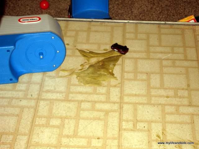 Simon Threw Up on My Kitchen Floor