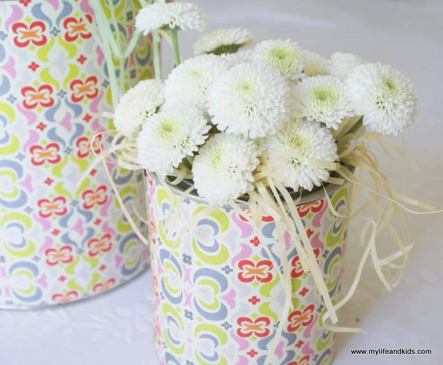 Paint Bucket Flower Basket