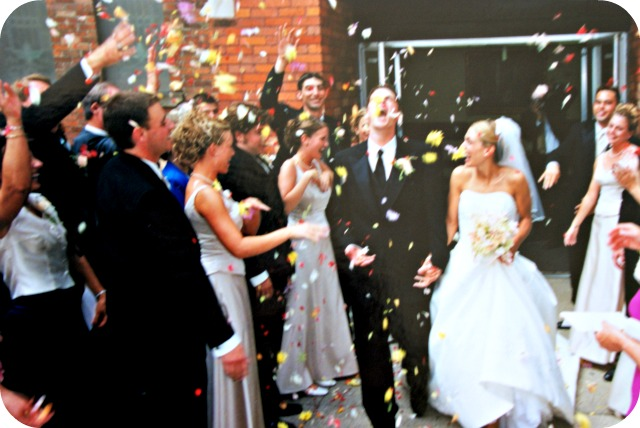 Throwing Flowers At A Wedding