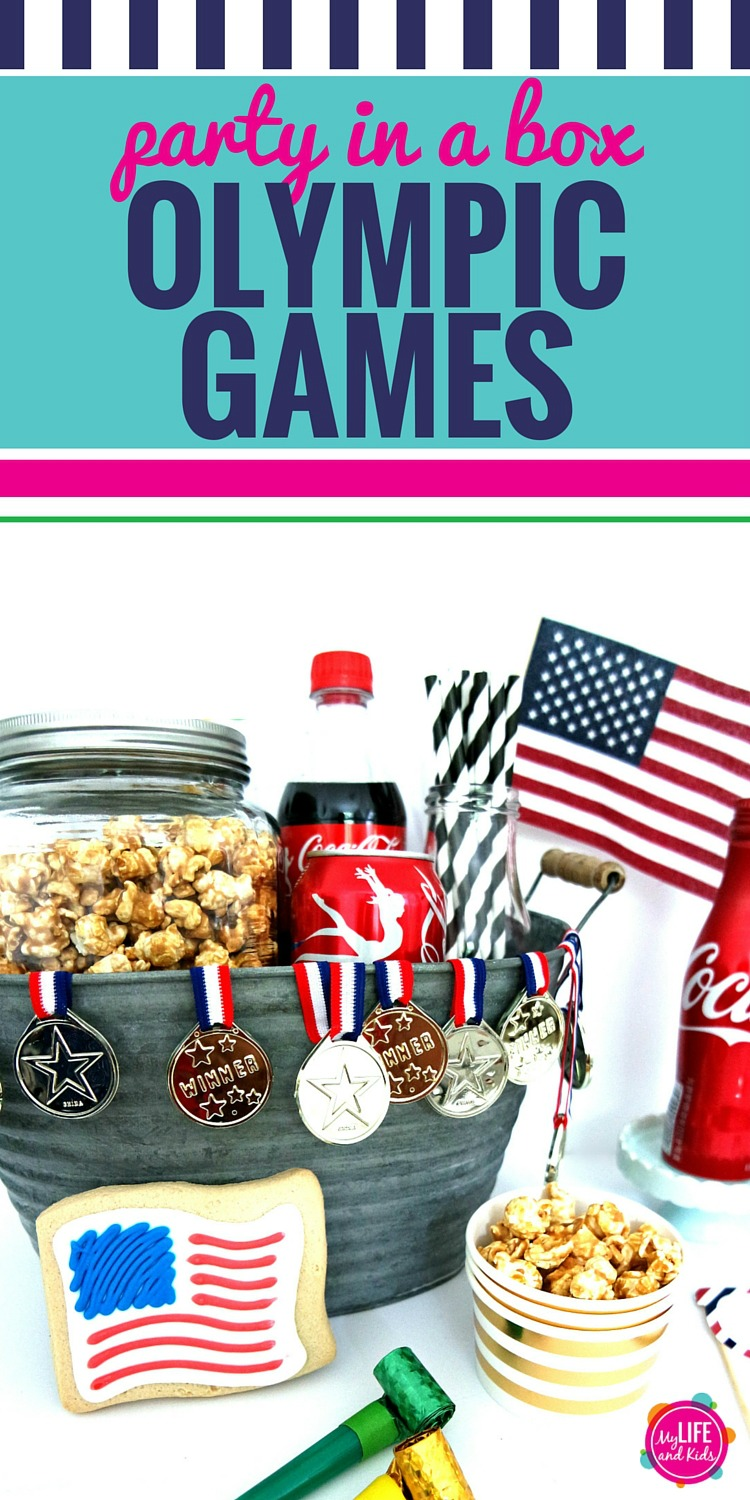 Surprise a friend or neighbor with thisDIY Olympic Games party in a box. With everything you need to enjoy the Olympic Games - including a bingo printable.