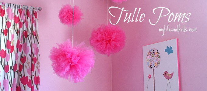 Tulle Poms Tutorial