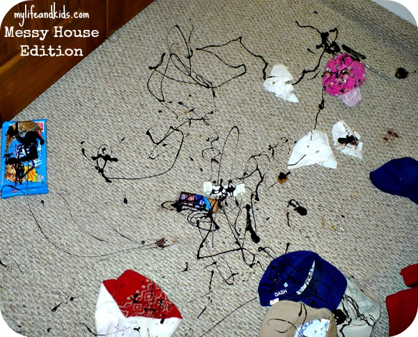 See pictures of messy houses things kids do when napping kid mess