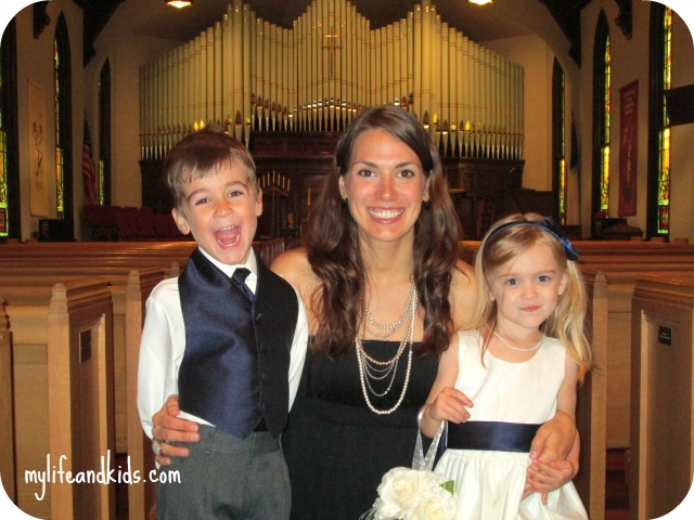Anna Miles and Alice at wedding mylifeandkids