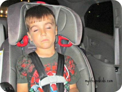 Miles passed out in the car my life and kids