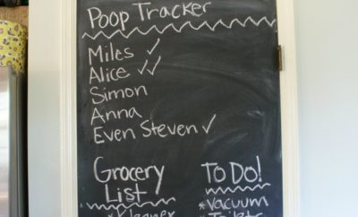 Poop Tracker on Chalkboard Wall My Life and Kids