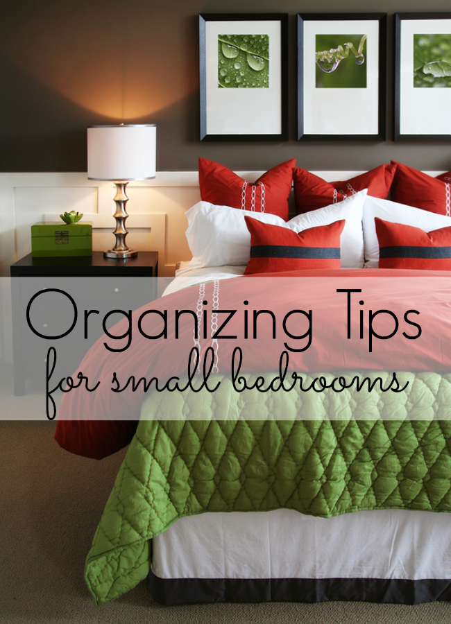 These organizing tips will keep your small bedroom clean and functional - and looking good too! Great organizing tips for small bedrooms. Whether your space needs to incorporate an office, you want to to DIY the space or just know what to purchase, your home will benefit from these great ideas for small bedrooms.