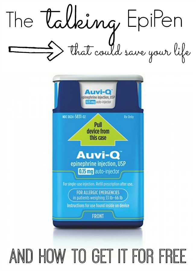 If you have food allergies, you MUST check out this new epinephrine injector called AUVI-Q. It talks, is the size of an iPhone - and it can be FREE!