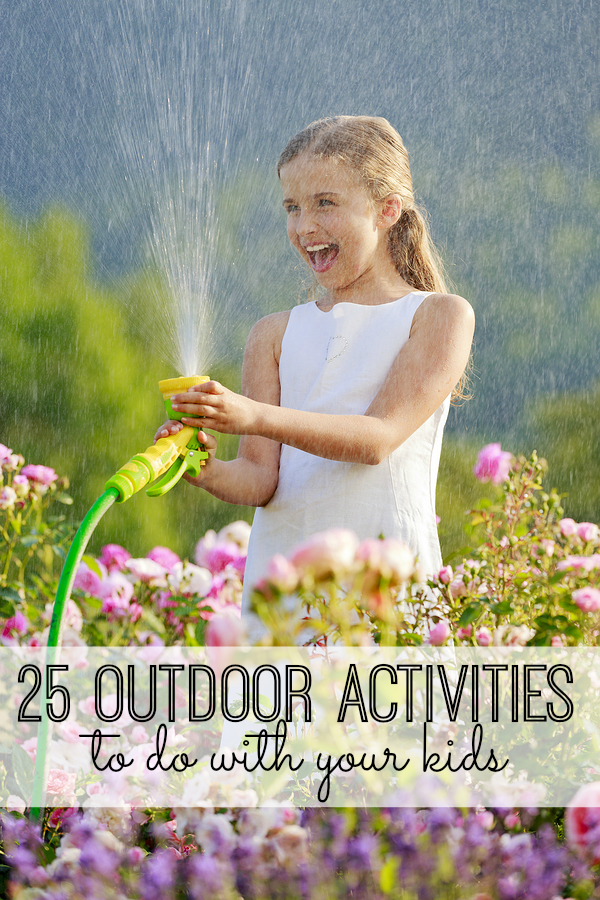 25 fun outdoor activities for kids. From party ideas to crafts, DIY projects and games, you and your kids will love these fun outdoor activities. My kids are obsessed with #22.