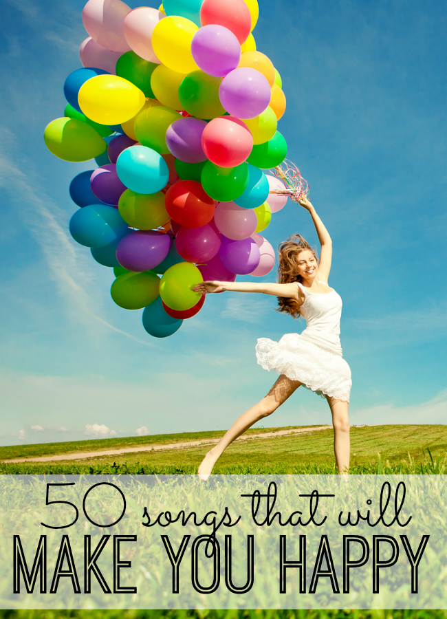 Are you looking for something to smile about today? These 50 happy songs are sure to make your world Happy. Relax, let loose, and push 'play.'