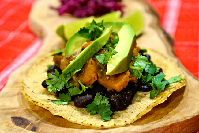 Black Bean & Sweet Potato Tacos