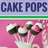 Are you looking for a simple and easy cake pops recipe? You're not alone - I can't even describe the major failure we had the first time we tried to tackle cake pops at home. These easy step by step instructions will walk you through how to make cake pops the right way every time.