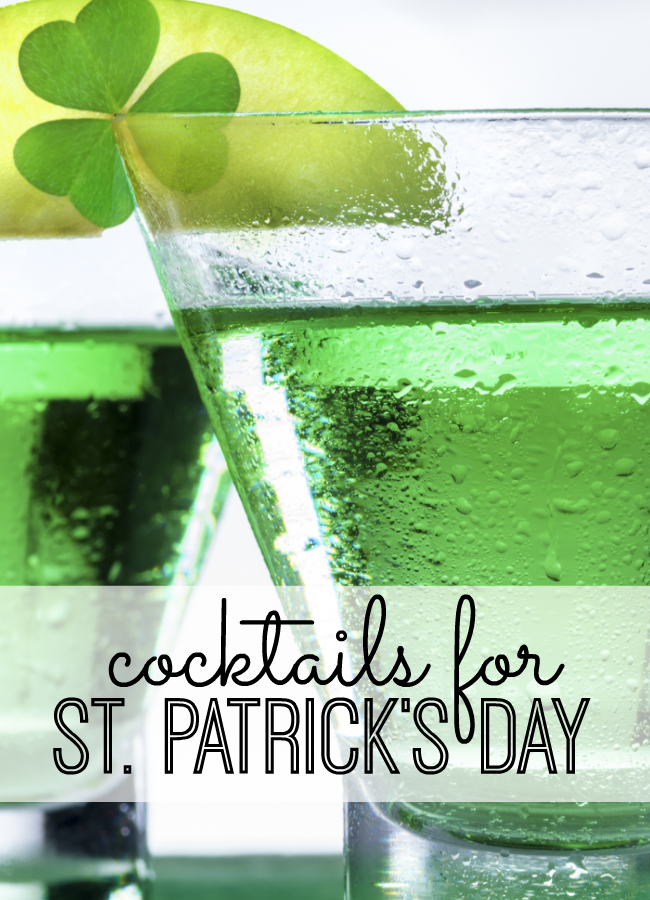 St Patrick 39 S Day Cocktails My Life And Kids