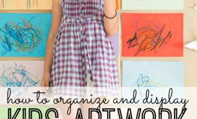 how to organize and display kids artwork