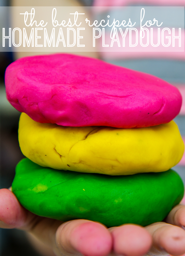 the best recipes for homemade playdough