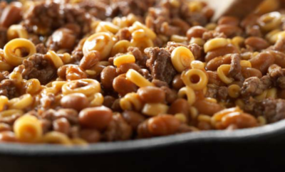 Camper's Special is a quick and easy one-skillet meal that will be a hit with the kids!