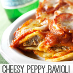 What's better than raviolis? Raviolis with pepperoni! Kids will love this dinner (and so will you).