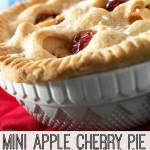 Created for your little kitchen helpers, this mini apple cherry pie recipe makes two pies so there is one to share!