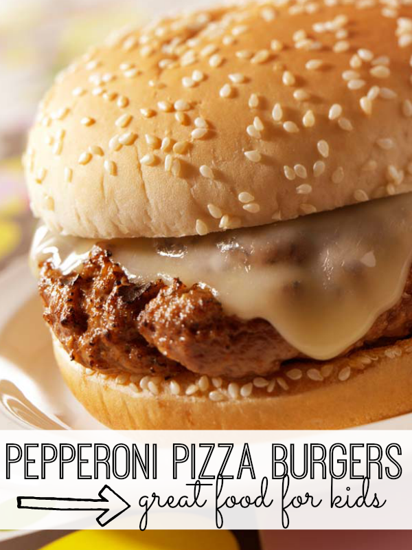 Combining the best of both worlds, these pepperoni pizza burgers will be a hit with kids and adults alike.