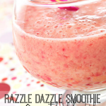 Perfect for breakfast or a snack, this yummy smoothie recipe will razzle dazzle your (and your kid's) taste buds.