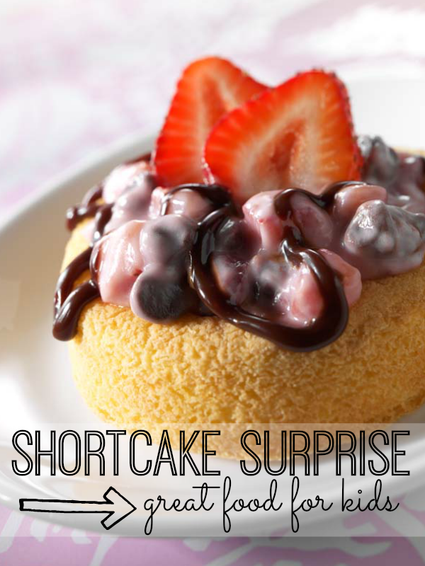 This delicious twist on a Strawberry Shortcake recipe is so simple to make. In fact, it's a perfect recipe to get your kids started in the kitchen!