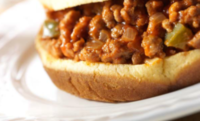 A simple, slimmer Sloppy Joe sandwich recipe that the whole family will love.