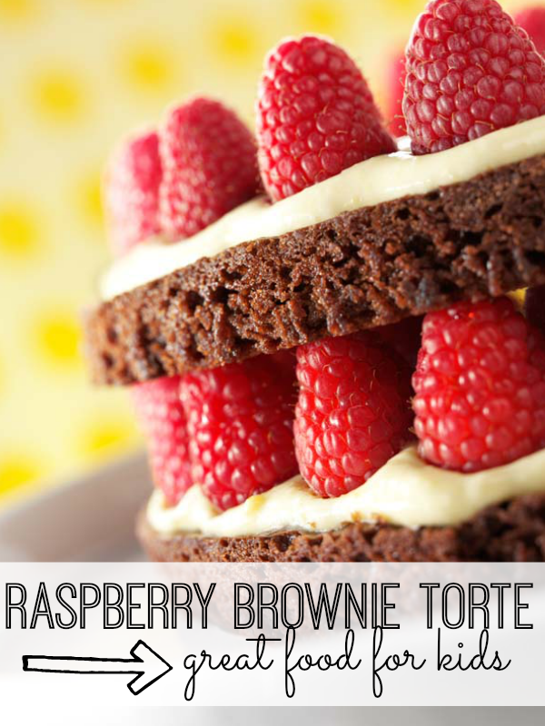 This simple brownie torte recipe is as fun to make as it tastes. Get your kids in the kitchen, and whip up this special dessert in no time!