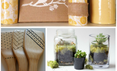 Feeling crafty? Check out these 10 easy DIY projects you can tackle this weekend. Great ideas for your home and furniture. #5 is at the top of my list.