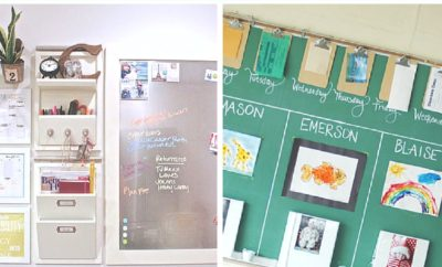 Back to school season is here. Get your house and life organized for the school year with one of these inspiring DIY command centers for your kitchen or your office. It's the perfect place to keep track of calendars, homework, backpacks and school papers. Plus see how to create one for less than $20 using materials from the Dollar Tree or Dollar Store. #backtoschool #DIY #commandcenter #dollarstore #dollartree #organization #ideas #school