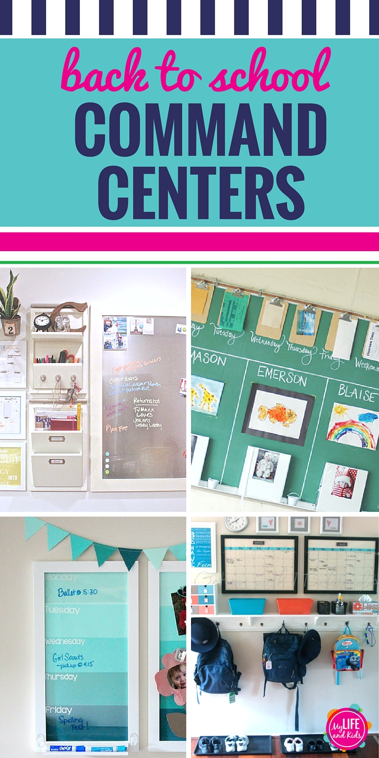 Back to school season is here. Get your house and life organized for the school year with one of these inspiring DIY command centers for your kitchen or your office. It's the perfect place to keep track of calendars, homework, backpacks and school papers.