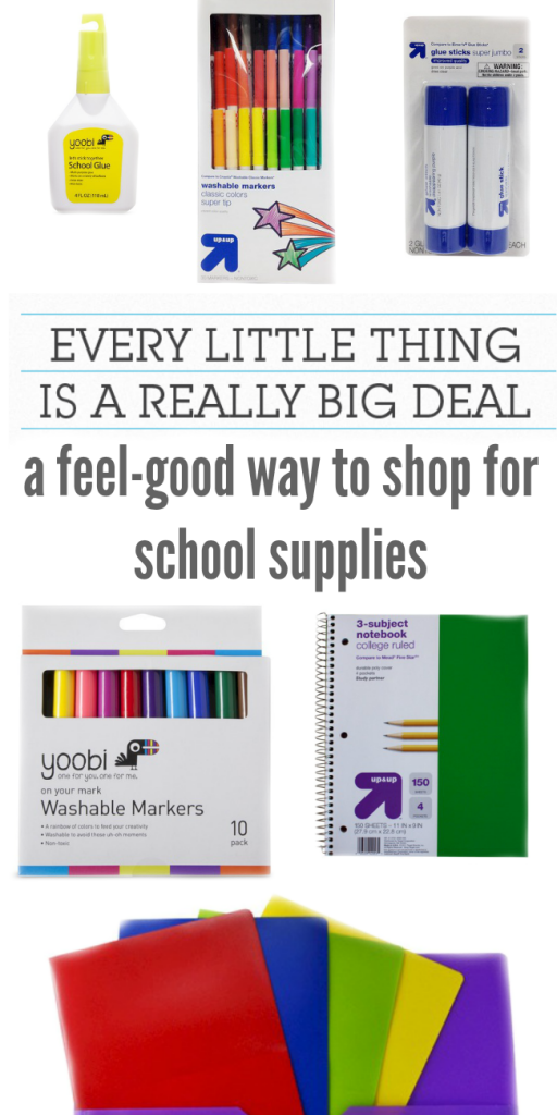 Back to School shopping? Get your supplies at Target and help kids in need! For every select school supply purchase, Target will donate one to a child in need. How awesome is that!?!