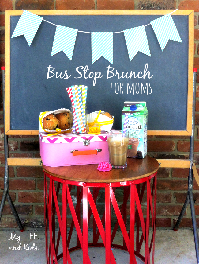 Celebrate the first day of school with a back to school bus stop brunch for moms. So fun and so simple.