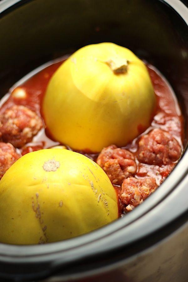 crockpot-spaghetti-squash-meatballs