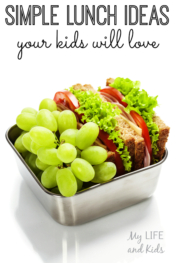 Simple lunch ideas your kids will love! Seriously - so simple - and healthy!