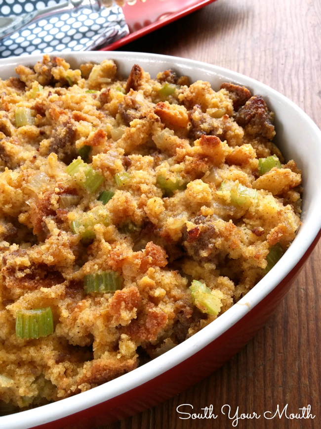 southern-cornbread-dressing-with-sausage