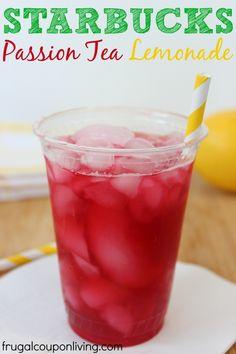 how to order passion tea lemonade at starbucks