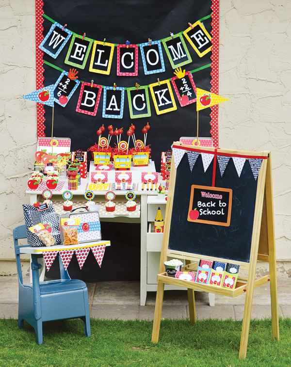 Back to school party ideas my life and kids for Back to school decoration ideas for teachers