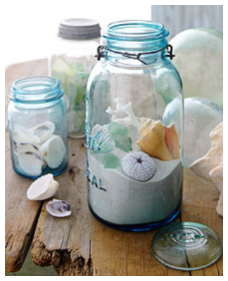20 beach inspired crafts that can help bring you back to the beach. #19 is my favorite!