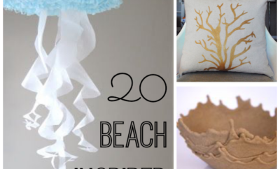 20 beach inspired crafts for your home that can help bring you back to the beach. #19 is my favorite!