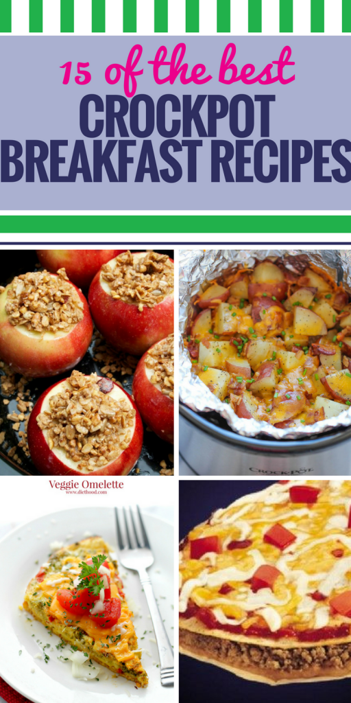15 Crockpot Breakfast Recipes. Wake up to a meal that's so healthy and delicious, you'll want to eat it for dinner, too. All types of casserole, chicken dishes and slow cooker apple oatmeal - enough recipes to start every morning off right.