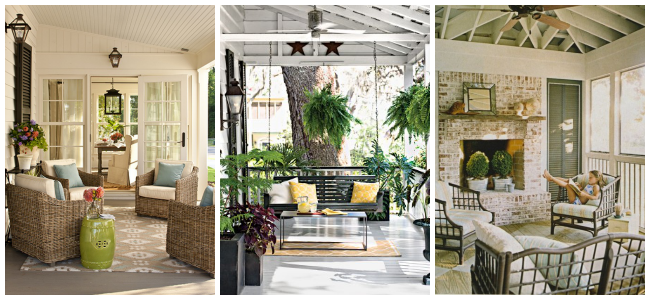 15 Front porches that will make you swoon! Love these!