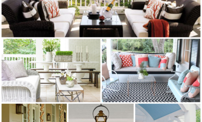 15 Front Porches That Will Make You Swoon - get inspiration for your summertime front porch with these FABULOUS front porch ideas. Whether your design style is modern or rustic, your home will be inviting with these great front porch decor ideas.