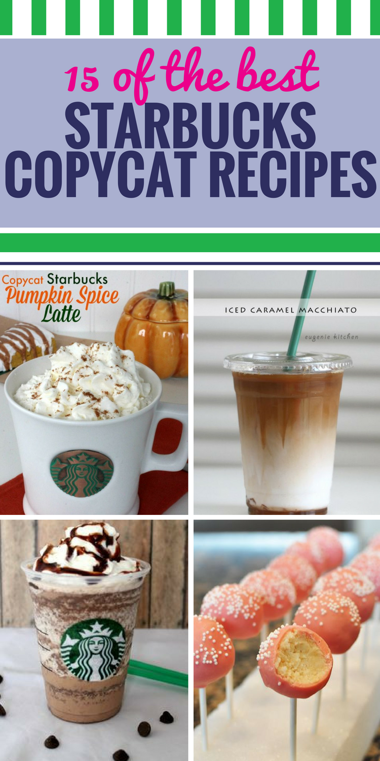 15 Copycat Starbucks Recipes. Everyone has their favorite order at Starbucks, but not everyone loves paying Starbucks prices - we have the solution with these copycat recipes. Whether you love to indulge in their desserts, like Cranberry Bliss bars or Lemon Loaf cake, you could eat their bread for breakfast (and lunch, and dinner) every day, or you just can't get your fill of coffee and special latte recipes, you'll find everything you crave here.