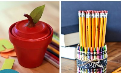These 10 handmade and DIY back to school teacher gifts are a great way to start the year. Whether you're a teacher looking to give something to your coworkers or a principal wanting to celebrate your staff on the first day or a parent wanting to show your gratitude to your child's teacher, these ideas are cheap and easy! #teacher #principal #teachergifts #DIY #easy #cheap