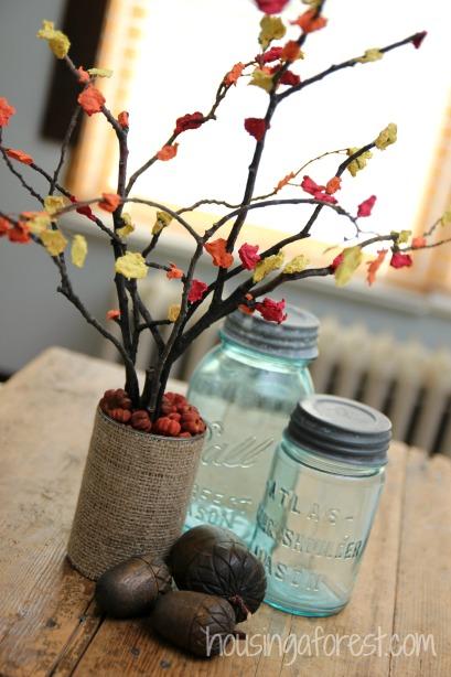 Fall Centerpiece Craft for Kids