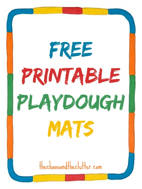 Peaceful image inside printable playdough mats