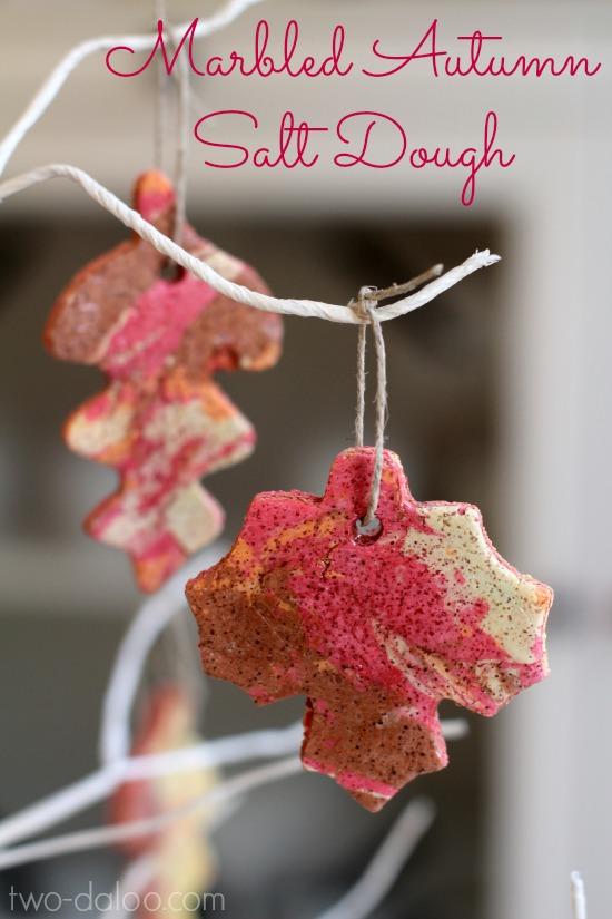 Marbled Autumn Salt Dough