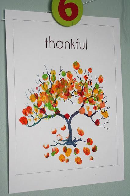 Thankful Thumbprint Tree